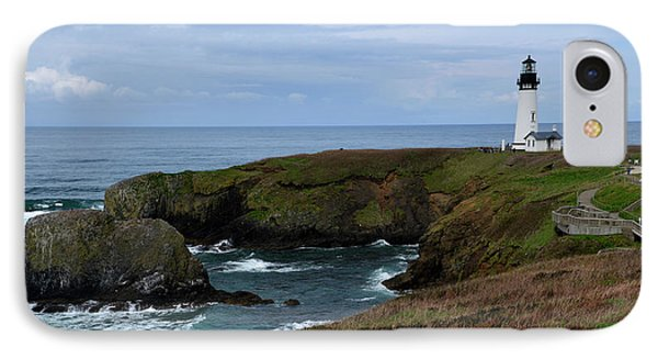 Stormy Yaquina Head Lighthouse IPhone Case