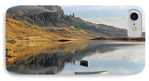 IPhone Case featuring the photograph Storr Reflection by Grant Glendinning