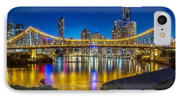 Story Bridge- Brisbane Queensland IPhone Case by Mark Lucey