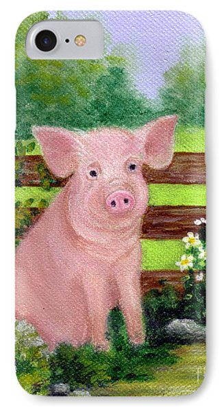 IPhone Case featuring the painting Storybook Pig by Sandra Estes