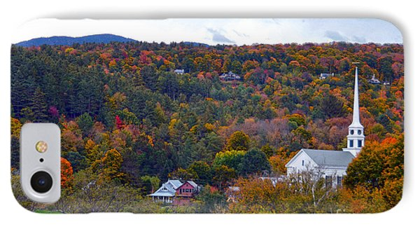 Stowe Vermont In Autumn Phone Case by Catherine Sherman