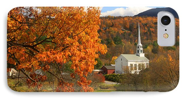 Stowe Vermont In Autumn IPhone Case
