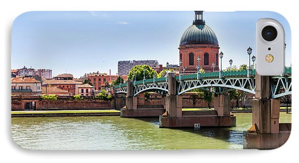 IPhone Case featuring the photograph St.pierre Bridge In Toulouse by Elena Elisseeva