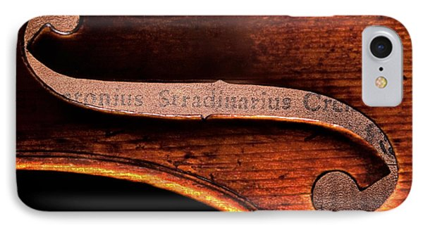 IPhone Case featuring the photograph Stradivarius Label by Endre Balogh