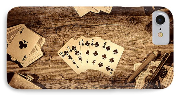 Straight Flush IPhone Case by American West Legend By Olivier Le Queinec
