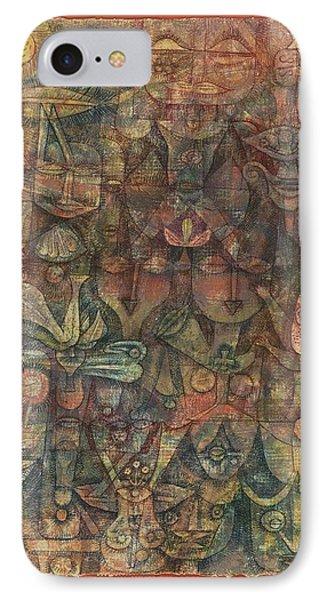 Strange Garden IPhone Case by Paul Klee