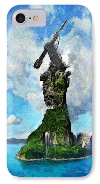 Strange Island IPhone Case by Leonardo Digenio