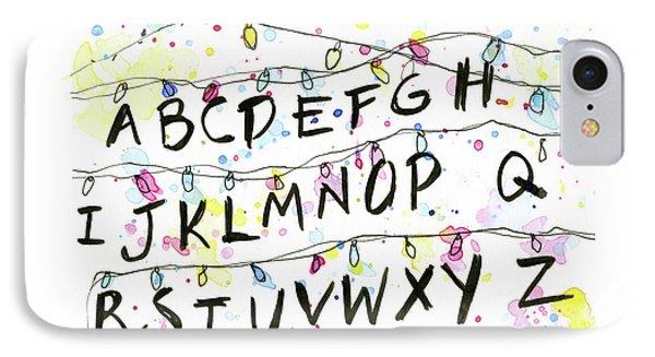 Stranger Things Alphabet Christmas Lights IPhone Case by Olga Shvartsur