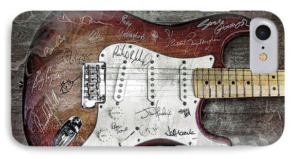 Strat Guitar Fantasy IPhone Case by Mal Bray