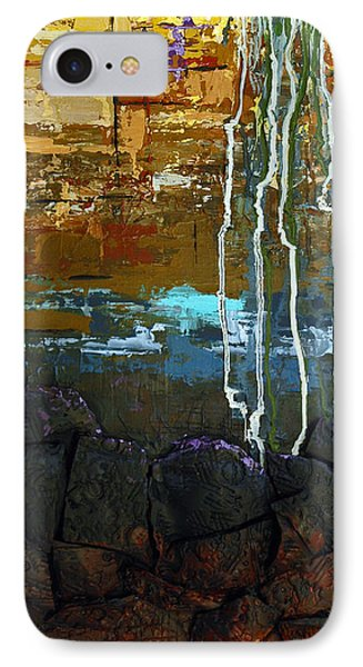 IPhone Case featuring the painting Strata by Suzanne McKee