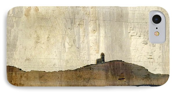 IPhone Case featuring the photograph Strata With Lighthouse And Gull by LemonArt Photography