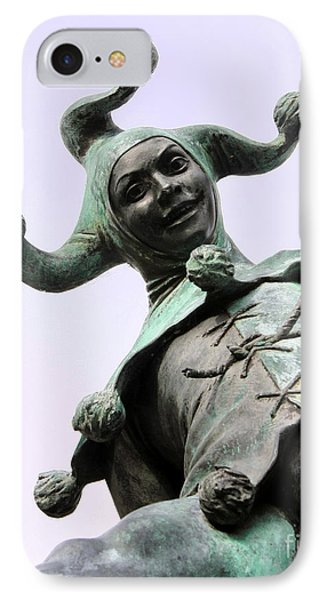 Stratford's Jester Statue Phone Case by Terri Waters