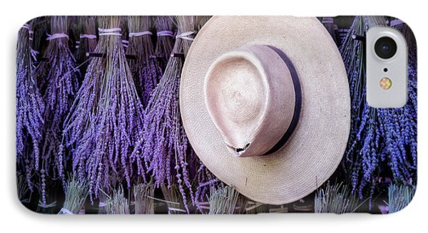 Straw Hat And French Lavender Bunches IPhone Case by Susan Candelario