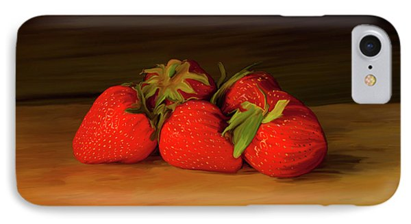 Strawberries 01 IPhone Case by Wally Hampton