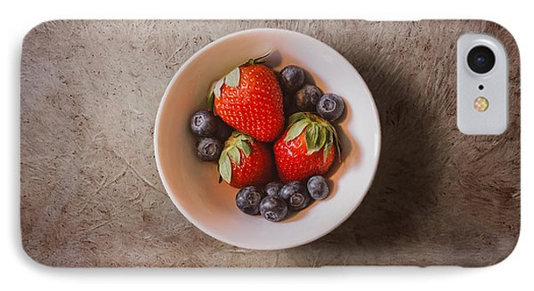 Strawberries And Blueberries IPhone 7 Case by Scott Norris
