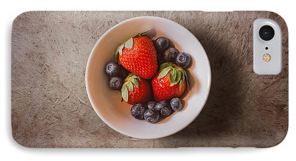 Strawberries And Blueberries IPhone Case by Scott Norris