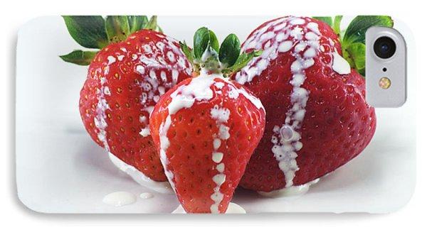 Strawberries And Cream IPhone Case