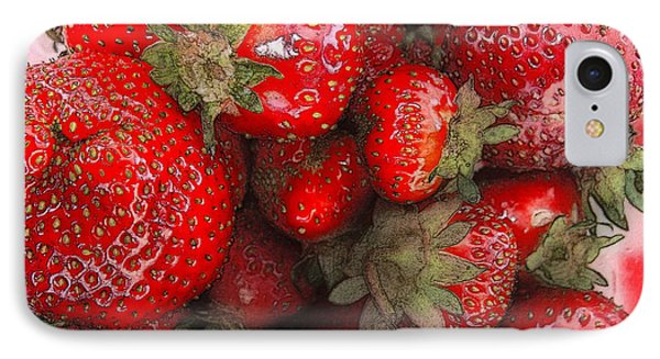 Strawberries IPhone Case by David Blank