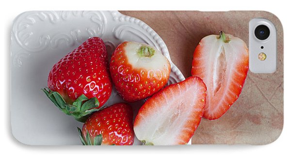 Strawberries From Above IPhone Case by Tom Mc Nemar