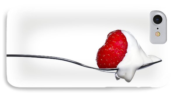 Strawberry And Cream IPhone 7 Case by Gert Lavsen