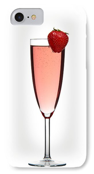 Strawberry Champagne IPhone Case by Gert Lavsen