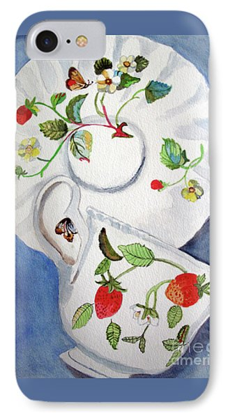 Strawberry Cup And Saucer IPhone Case by Sandy McIntire