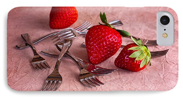 Strawberry Delight IPhone 7 Case by Tom Mc Nemar