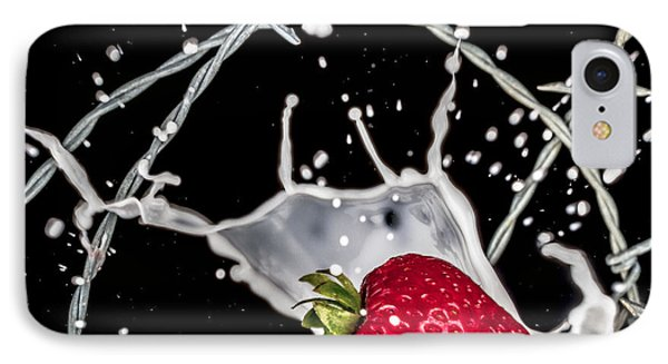 Strawberry Extreme Sports IPhone Case by TC Morgan