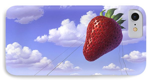 Strawberry Field IPhone Case by Jerry LoFaro