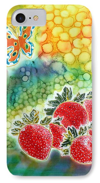 Strawberry Garden Phone Case by Beverly Johnson
