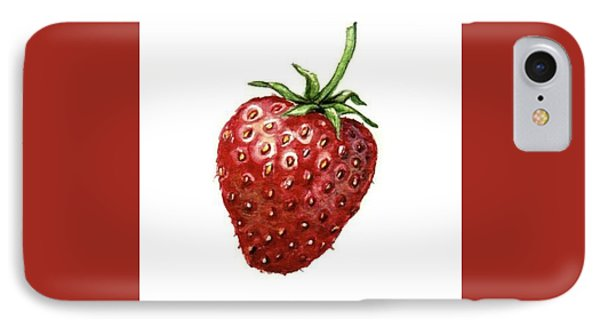 IPhone Case featuring the painting Strawberry by Heidi Kriel
