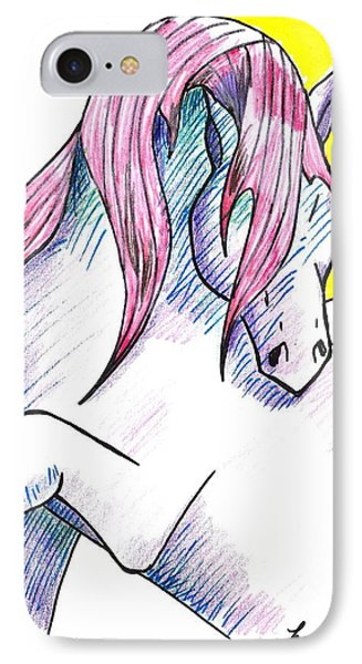 Strawberry Horse IPhone Case by Loretta Nash
