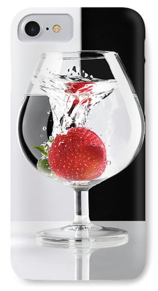 Strawberry In A Glass Phone Case by Oleksiy Maksymenko