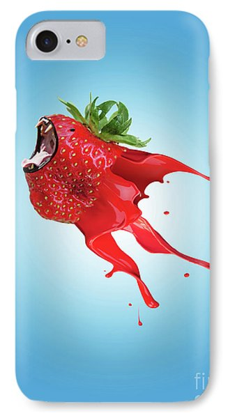 IPhone Case featuring the photograph Strawberry by Juli Scalzi