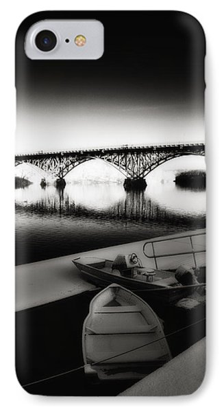 Strawberry Mansion Bridge In Winter Phone Case by Bill Cannon