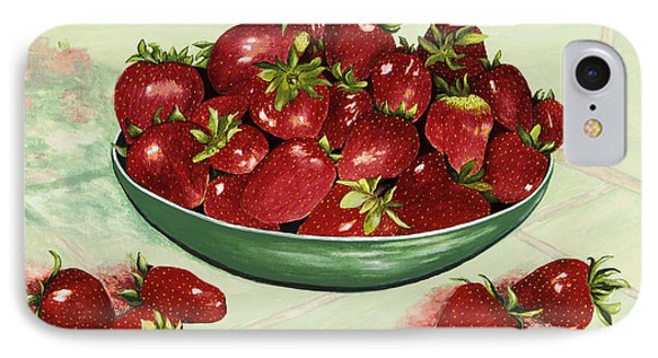 Strawberry Memories Phone Case by Mary Ann King