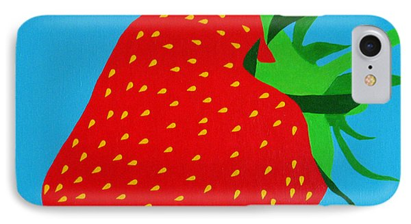 Strawberry Pop Phone Case by Oliver Johnston