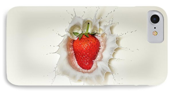 Strawberry Splash In Milk IPhone 7 Case