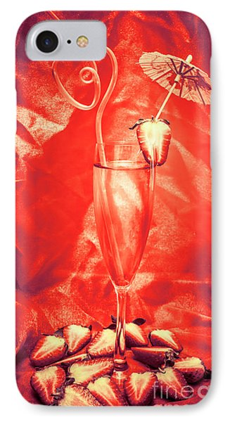 Straweberry Tropical Cocktail Drink IPhone Case by Jorgo Photography - Wall Art Gallery