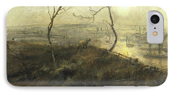 Strayed, A Moonlight Pastoral, 1878 IPhone Case by Cecil Gordon Lawson