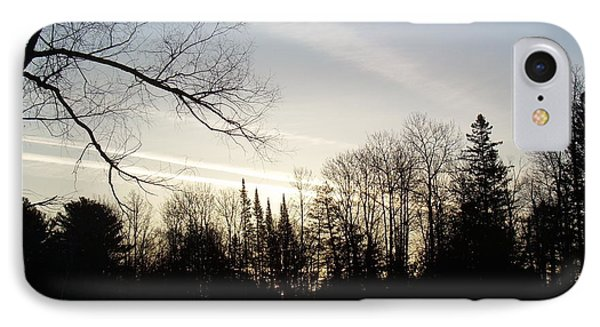 IPhone Case featuring the photograph Streaks Of Clouds In The Dawn Sky by Kent Lorentzen