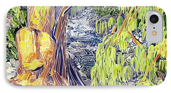 Stream At Laupahoehoe Phone Case by Fay Biegun - Printscapes