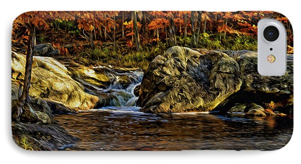 Stream In Autumn 57 In Oil IPhone Case by Mark Myhaver