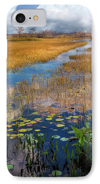 IPhone Case featuring the photograph Stream Through The Everglades by Debra and Dave Vanderlaan