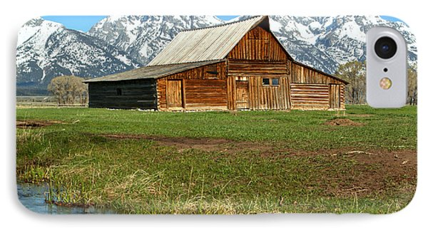 Streaming By The Moulton Barn IPhone Case by Adam Jewell