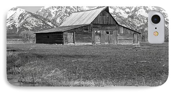 Streaming By The Moulton Barn Black And White IPhone Case by Adam Jewell