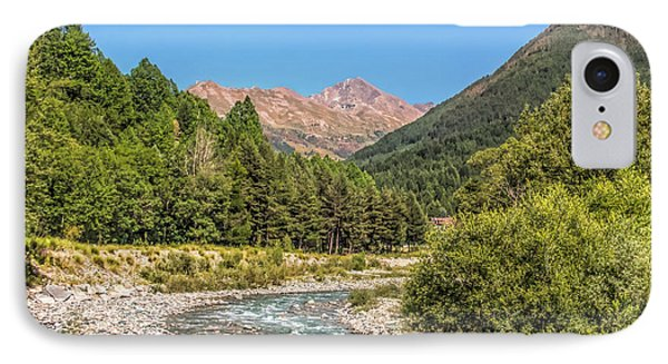 Streaming Through The Alps IPhone Case by Brent Durken