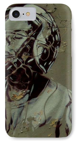 Wheat Paste Art Abstract  IPhone Case by Sheila Mcdonald