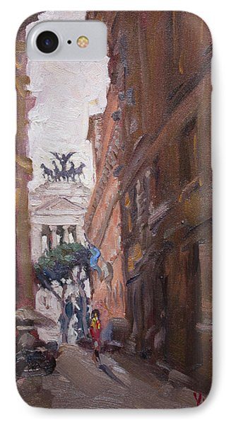 Street At Piazza Venezia Rome IPhone Case