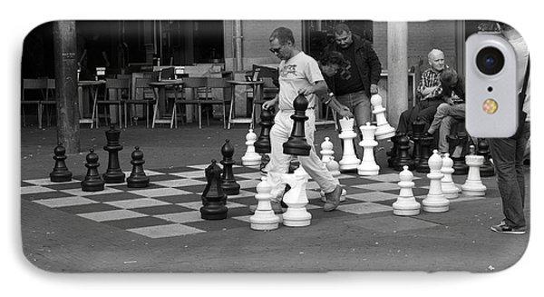 Amsterdam Street Chess IPhone Case by Aidan Moran